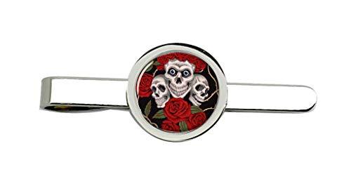 Giftshop UK Rose Totenkopf Krawatte Clip
