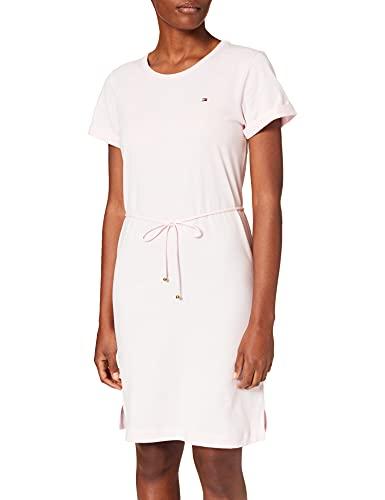 Tommy Hilfiger Damen TH COOL C-NK Short Dress SS Lssiges Kleid, Hellrosa, X-Large