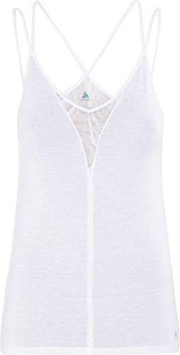 Odlo Damen SUW TOP Crew Neck Singlet Natural Plus X-Light Unterhemd, Snow White Melange, L
