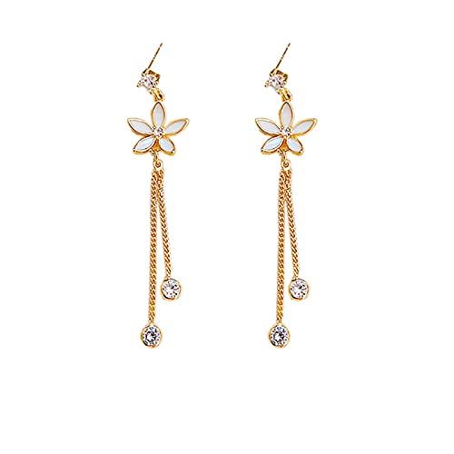 S925 pendientes de moda de aguja de plata pequeños pendientes de margaritas pendientes de temperamento salvaje pendientes personalizados