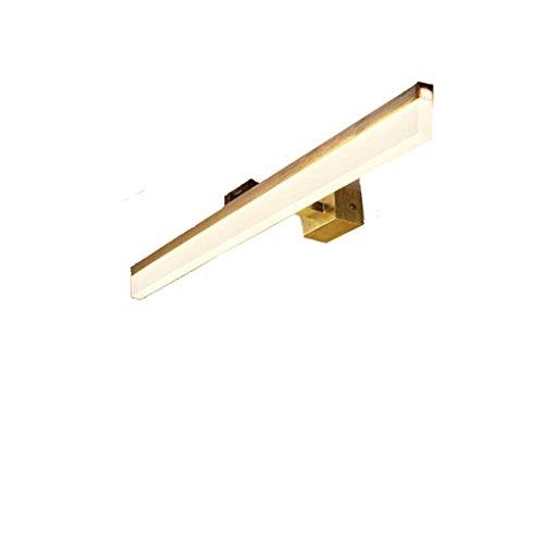 Espejo retrovisor LED Espejo de baño con luz de espejo Espejos de baño simples Tocador de baño Tocador Tocador Tocador Lámpara Espejo único Delicado (Color : Silver/warm white)
