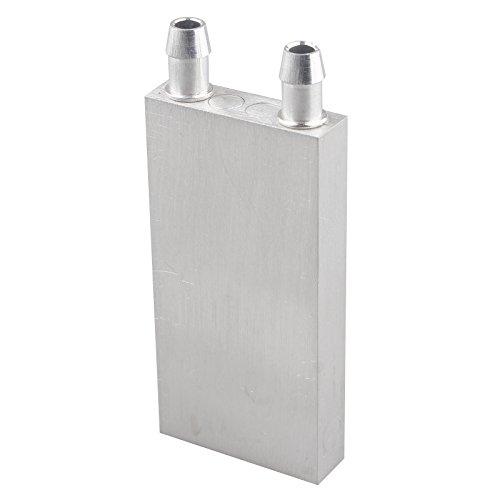 HALJIA Water-Cooled disipador de Calor radiador 40 * 80 * 12 mm Aluminio Agua refrigeración por líquido CPU Placa de Memoria para Semiconductor