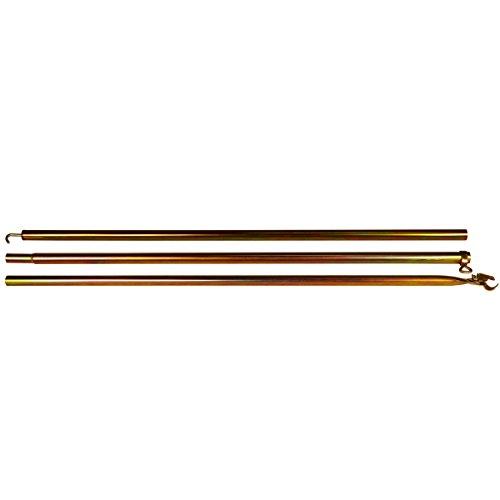 Dachhakenstange, Ø 22-25 mm, 3teilig, 290 cm, verzinkt - Vorzelt Gestänge 3-teilig Dachstange Zelt Spannstange verzinkt