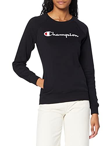 Champion Damen - Classic Logo Sweatshirt - Schwarz, M