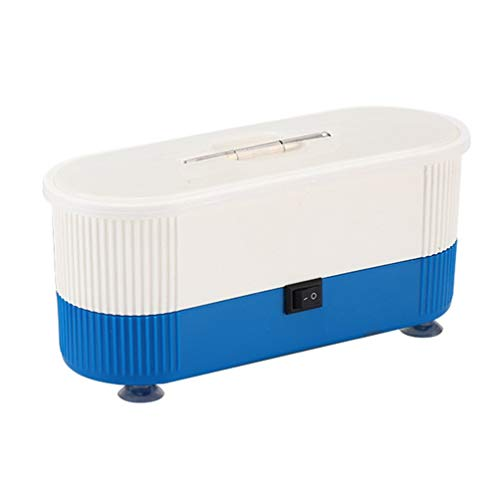 Ultrasonic Eyeglass Glasses Cleaner Cleaning Contact Lenses Watch Cleaners Machine Ultrasonic Cleaning Machine(Blue)