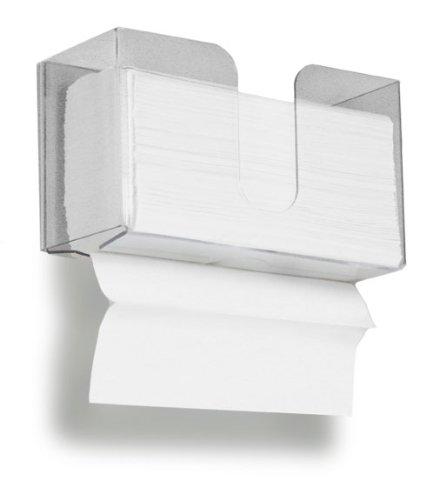 TrippNT 51912 Dual Dispensing Paper Towel Holder, 150 Multi-Fold Paper Towel Capacity and Peelable Protective Film