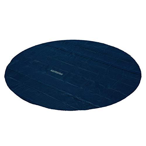 Leisure Solarabdeckplane schwarz/blau Ø366 für Pool