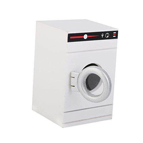 1/12 Casa de Muñecas en Miniatura Muebles Lavadora Blanca para Barbie Blanco