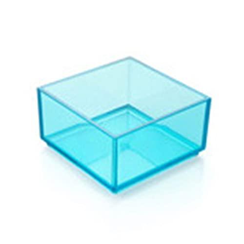 Zhang-StrongAn Caja de Almacenamiento apilable de Tipo Europeo, Caja de clasificación de cajones, Caja de Almacenamiento de Escritorio Transparente, Organizador para el hogar