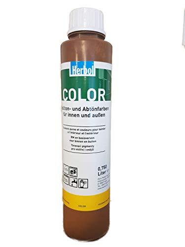 2x0,75 l Herbol Color In Vollton- und Abtönfarbe Matt Innen 1,5 Liter Farbwahl, Farbe:kastanie 840