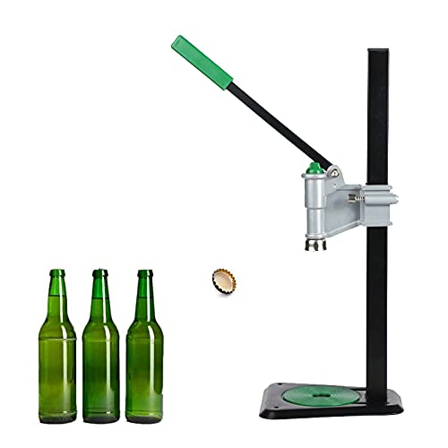 RUTILY Bench Bottle Capper Solid Metal Manual Beer Bottle Capping Machine Sealing Glass Bottle Capper Tool for Home Kitchen