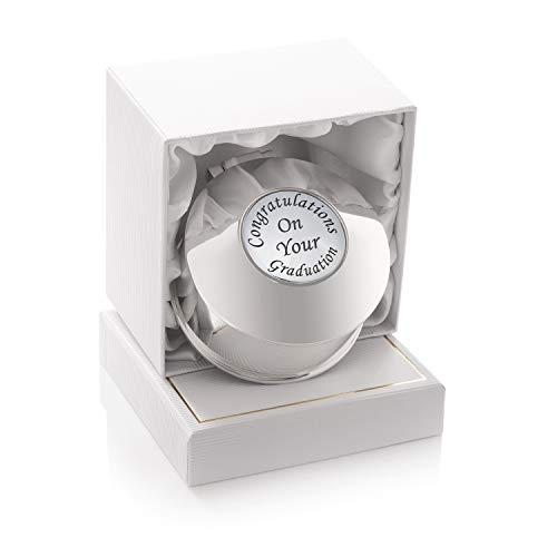 De Walden Cofanetto portagioie per regalo di laurea, da donna, placcato argento