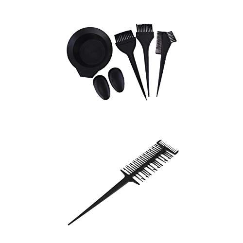 T TOOYFUL kit de Couleur des Cheveux Coloration Cheveux Bol Peigne Brosse Oreille Bouclieret Pro Peigne à Mèche Cheveux de Tissage Cheveux à 2-Voies