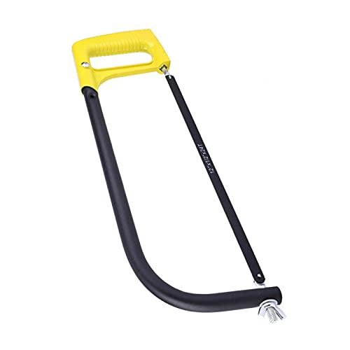 Marco de sierra para carpintería Mini sierra de arco Herramienta de mango de sierra de mano para cortar madera plástico