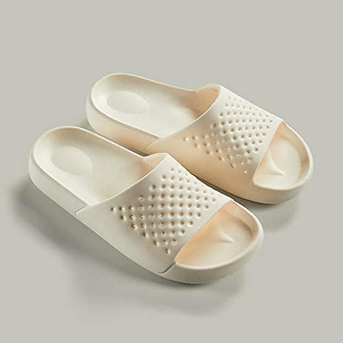 Chen Gary Baño Deslizador de Agua Zapatos,Zapatillas de baño para el hogar Antideslizantes, Desodorante Mudo para Damas y Arena-White_37,Zapatillas Antideslizantes para Casa/Piscina/Ducha/Baño
