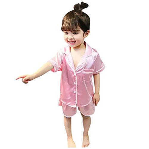 Allegorly Kleinkind Jungen Mädchen Anzug Zweiteiliger Schlafanzug Baby Boy Girl Langarm/Kurzarm Cartoon Tops + Hosen Pyjama Nachtwäsche Outfits