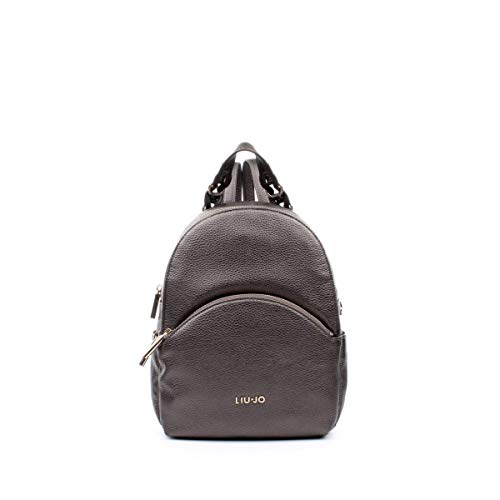 Zaino Liu-Jo backpack M in ecopelle colore moro light metal donna B20LJ38