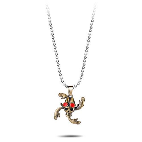 U/D Collar de Calavera de Dibujos Animados, Cadena Colgante, Collar Masculino, Encanto Querido, Regalo de cumpleaños, Collar de joyería
