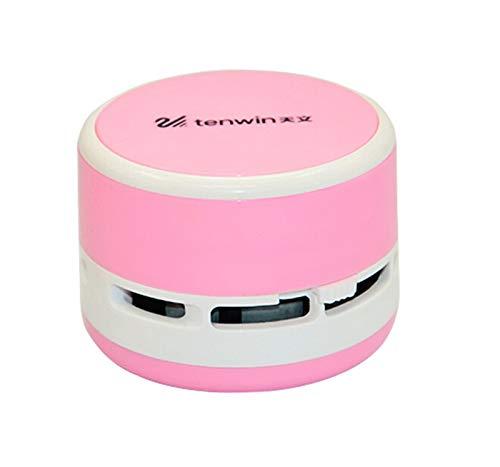 WUYANZI Mini Mesa de aspiradora Escritorio Limpiador de Polvo Tabla Linda Sweeper Unito pequeño Vacío de vacío Sweeper Ajuste para Oficina en casa (Color : Pink)