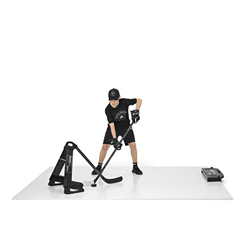 Better Hockey Extreme Super Dangle Kit - Awesome Training Aid for Shooting, Passing, Puck Control and One Timers - Premium Tiles with Puck Rebounder - Versatile Stickhandling Trainer