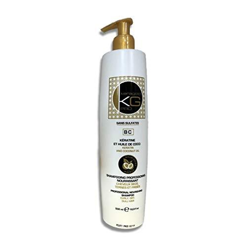 KERAGOLD PRO Shampoing Bc sans Sulfates à La Keratine & Huile de Coco 500 ml
