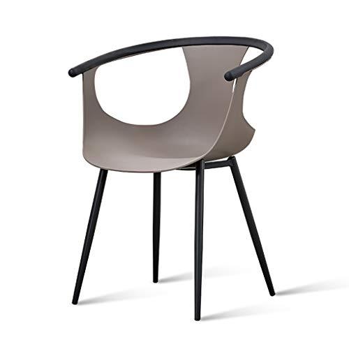 XHDRM Eetkamerstoel bureaustoel Rugleuning kruk Thee winkel make-up stoel computer stoel lounge stoel Huishoudelijke restaurant, 6 kleuren beschikbaar L590*W470*H820mm