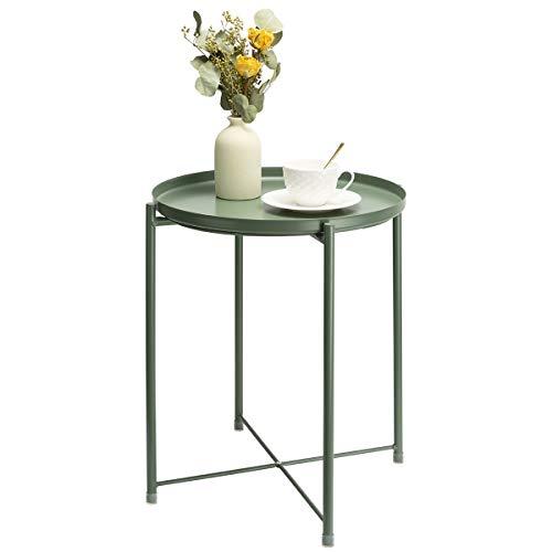 danpinera End Table, Side Table Metal Waterproof...