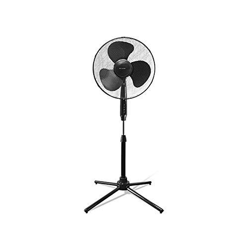 Standventilator 40 cm, 50 W, 2.427 m³/h mit Oszillationsbewegung und 4 Drucktasten Klimagerät (schwarz)