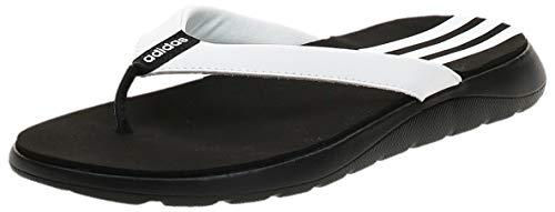 adidas Damen Comfort Flipflop, CBLACK/FTWWHT/CBLACK, 40.5 EU