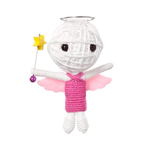 Voomates String Doll Voodoo-Puppen - handgemachte Sorgen-Püppchen Fingerpuppen - Die Handpuppen mit 81 Modelle - Guardian Angel (Schutzengel)