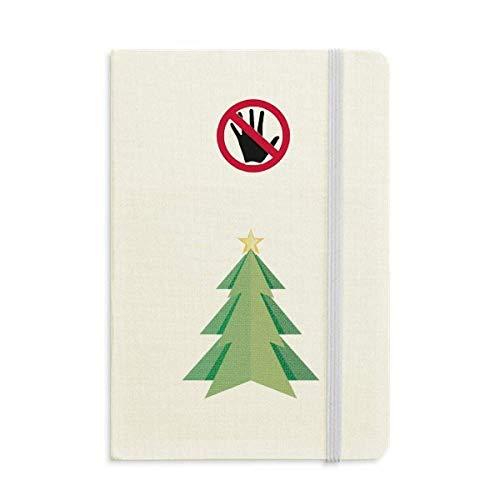 Diario clásico de árbol de Navidad con patrón de origami A5