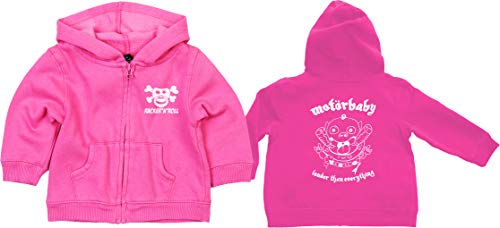 Racker-n-Roll MOTÖRBABY Louder Than Everything fopspeen zip hoodie roze