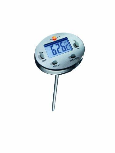 Testo SE & Co.KGaA Testo 0560 1113 Wasserdichtes Mini-Thermometer, Länge 120 mm, bis +230 °C, mit Schutzhülse für Fühlerrohr