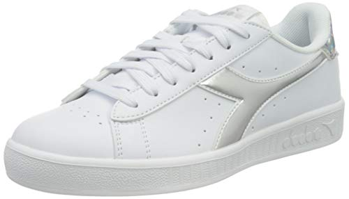 Diadora Game P Wn, Scarpe da Ginnastica Donna, White/Silver, 40 EU