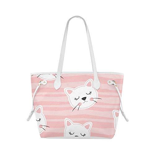Plsdx Klassische Umhängetasche Lazy Cat Sleeping Sweet Tote Reisetasche Schulter-Werkzeugtasche...
