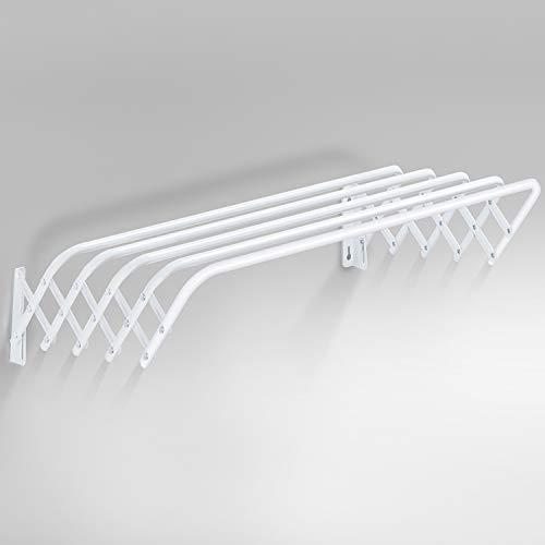 Wandwäschetrockner ausziehbar Scherenwäschetrockner Wandtrockner wand Handtuchhalter ausziehbar Wandwaschestander weiss 80CM aus Metall