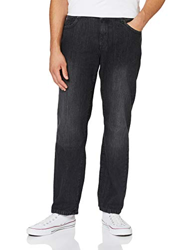 Urban Classics Herren Loose Fit Jeans Hose, real Black Washed, 32/32