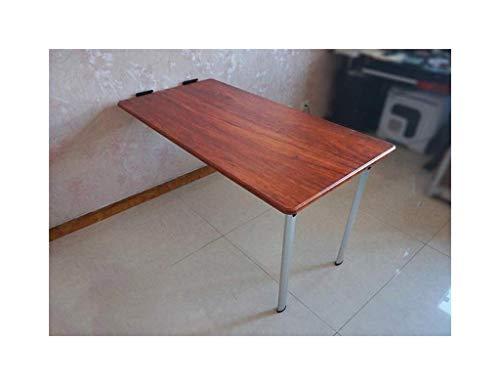 Schreibtisch Wand-Laptoptisch, Klapptisch, einfacher Schreibtisch, Computertisch (Color : Redwood)