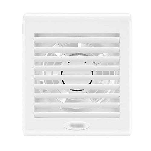 SHYPT Ventilador de ventilación del hogar, de 6 Pulgadas en Silencio baño Inodoro Ventilador de ventilación, de plástico Blanco de la Parrilla