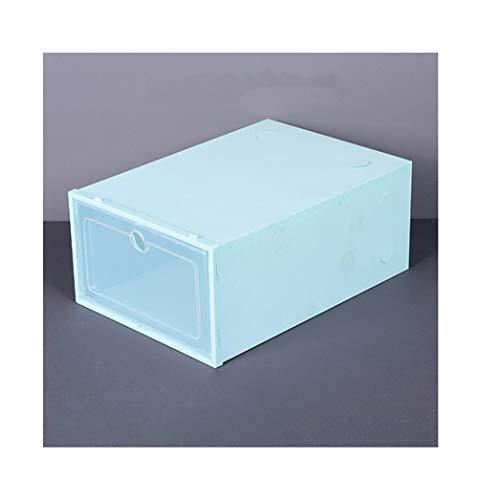 NAXIAOTIAO Zapatero Pequeña, Caja De Zapatos Clamshell Cajón, para Las Señoras De Los Hombres Apilable Y Plegable De Plástico Y Clear Caja De Almacenamiento, Inodoro (3 Piezas),A1