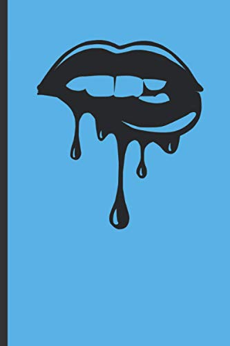 Blue Lips Notebook for Women and Girls:...
