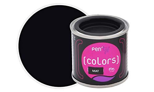 PEN'TY Peinture Fer Bois Couleur, Noir Mat, 0.08L
