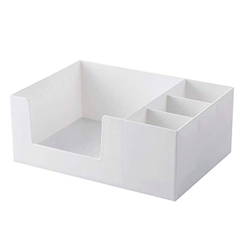 ZTMN Kosmetik Aufbewahrungsbox Kunststoff Einfache Schublade Typ Lippenstift Schmuck Hautpflegeprodukte Aufbewahrungsbox (Farbe: Weiß, Größe: 24,2 * 17,2 * 9,5 cm)