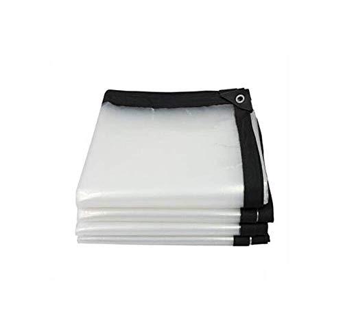 VOPTECH Transparentes Lonas - Lona Pesado - Grueso a Prueba de Agua, Resistente a los Rayos UV, Rot, Rip y Desgaste Prueba Lona (Tamaño: 3mx8m)