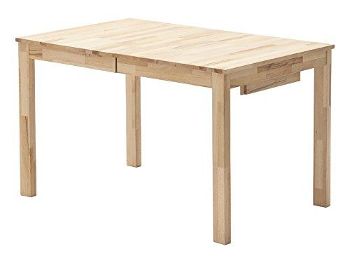 Robas Lund Esszimmertisch ausziehbar Tisch Massivholz Buche, Fabian BxHxT 125-165 x 76 x 80 cm