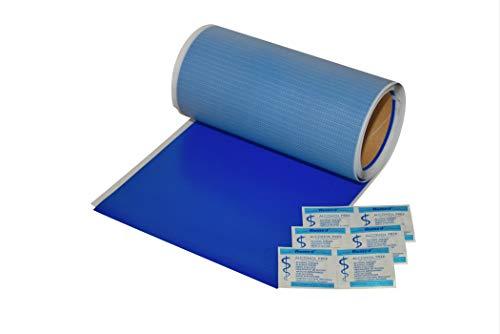 FLICKLY  | Autoadhesivo de reparación de lonas | en muchos colores | 2,5 m x 200 mm | en rollo | (Ultramarineblau RAL5002)