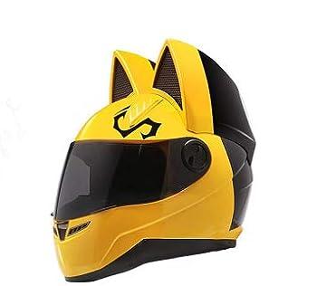 Nitrinos Nts-004 Street Helmet Full Face with cat Ears  M