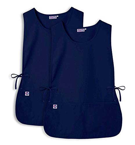 Sivvan Unisex Cobbler Apron (2 Pack) - Adjustable Waist Ties, 2 Deep Front Pockets - S87002 - Navy - R