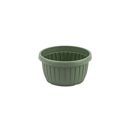 Ciotola fioriera di plastica serie IBERIS ø 180 mm colore: verde