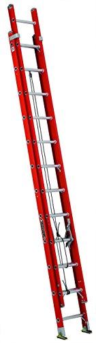 Louisville Ladder L-3025-24 Type IA Load Capacity Light Fiberglass Extension Ladder, 24'/300 lb Maine